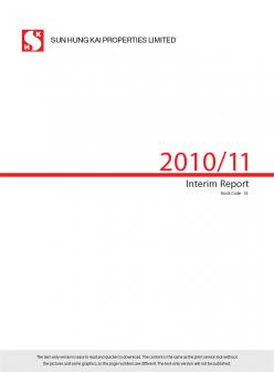 Interim Report 2010/11 (Text Only)