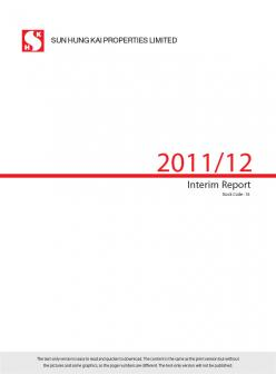 Interim Report 2011/12 (Text Only)