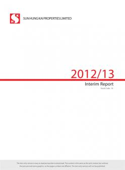 Interim Report 2012/13 (Text Only)