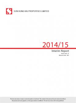 Interim Report 2014/15 (Text Only)